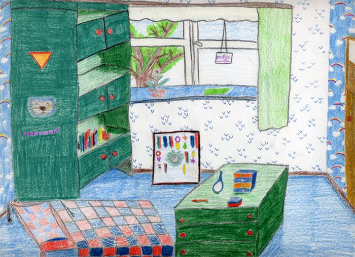 Tekeningen van vroeger 1 aukje for Eigen kamer ontwerpen 3d